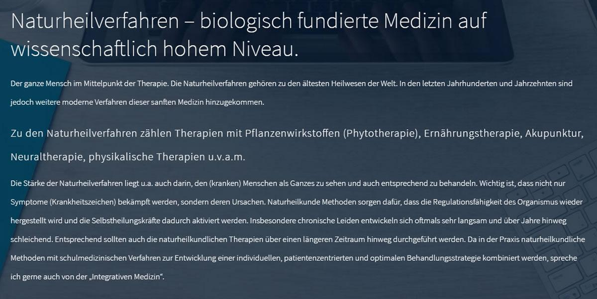 Naturheilverfahren,biologische Tumortherapie, Borreliose, Amalgam für 74397 Pfaffenhofen