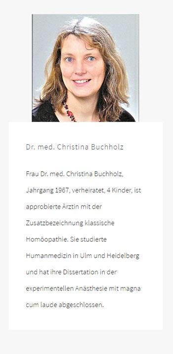 Dr. med. Christina Buchholz: Orthomolekularmedizin