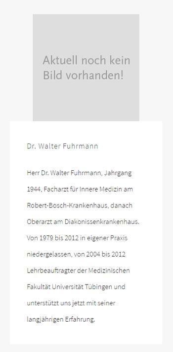 Dr. Walter Fuhrmann: Schilddrüsenuntersuchungen