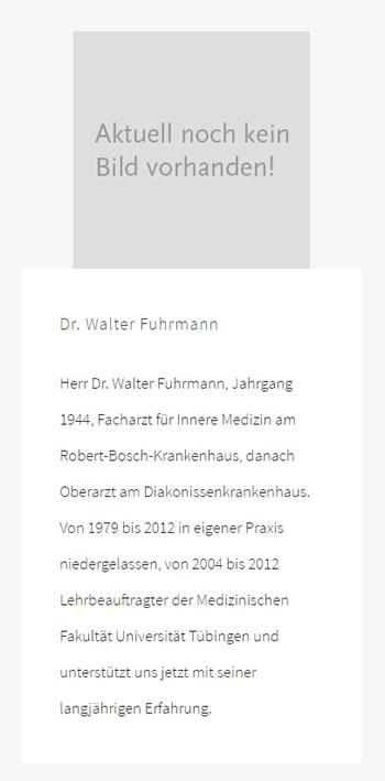 Walter Fuhrmann: Ultraschalluntersuchungen