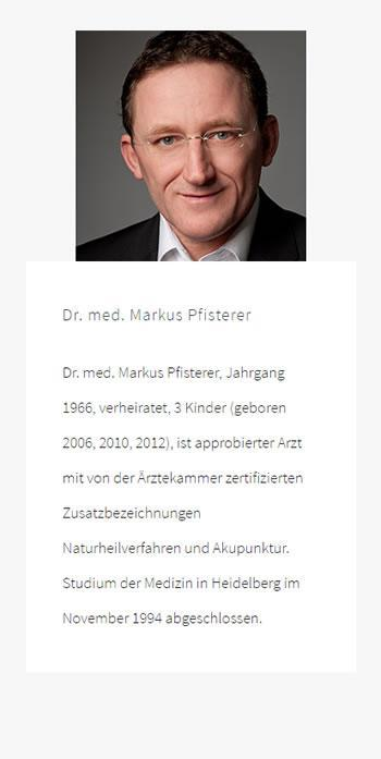Dr. med. Markus Pfisterer: Naturheilverfahren