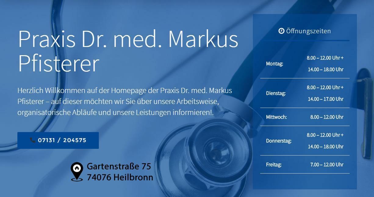 Arzt, Arztpraxis für Offenau - Praxis Dr. Pfisterer: Homöopathie, Akupunktur, Privatpraxis, Schmerztherapie, Hormonheilverfahren, Naturheilpraxis, Ernährungsberatung, Heilpraktiker, Nahrungsmittelunverträglichkeiten, biologische Tumorheilverfahren, Amalgam, Borreliose